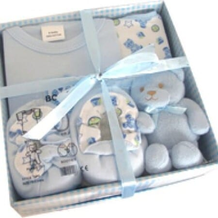 New Baby Gift Set - Booties, Teddy and Clothing